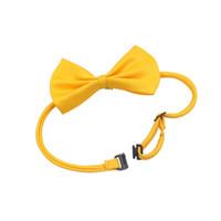 Crêt d'arc de chien de compagnie pour chiens de compagnie chiot ajustable Chiten chariot Collier Bowknot Cravate Côte colorée pour la fête d'anniversaire de mariage Pet 19 Style HHA3479