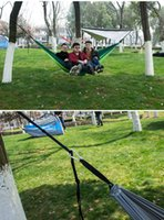 Outdoor Parachute Tuch Hängematte Faltbare Feld Camping Swing Hängen Bett Nylon Hängematten mit Seilen Carabiners 12 Farbe