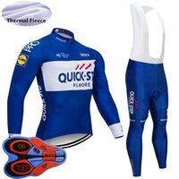 Yeni Hızlı Adım Takım Erkekler Bisiklet Bisiklet Termal Polar Jersey Önlük Pantolon Set Kış Uzun Kollu Bisiklet Üniforma Açık Spor 120708