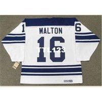 Erkek # 16 Mike Walton Toronto Maple 1967 CCM Vintage Uzakta Hokey Jersey veya Özel Herhangi bir isim veya numara Retro Jersey