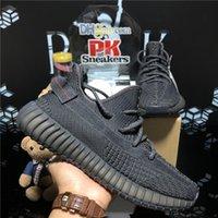 Top Quality Hommes Femme Kanye Mesh Sports Chaussures de course Perle Centre de la queue Perle 3M Statique Noir Black Zebra Mens Faman Fashion Entraîneurs en plein air Sneakers avec boîte