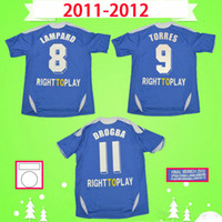 Chelsea soccer jeresy  shirt TORRES MATA Lampard 2011 2012 RETRO camisetas de fútbol de la vendimia David Luiz camisetas de TERRY clásica camiseta azul casa DROGBA LUKALU Maillot