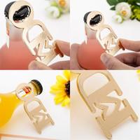 Beliebte Hochzeitseröffner Ich mache Brief-Metall-Flaschenöffner für Valentinstag-Geschenke Goldene Farbe 3 8LTA E1
