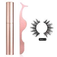Mulheres Maquiagem Líquido Delineador Set Cosméticos Com Cílios Falsos Longa Longo Natural Portátil Magnético Olho Ampliação Fácil Aplicar
