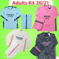 Kit para adultos de manga larga completo 2020 2021 camisetas de fútbol Real Madrid 3rd PELIGRO JOVIC mans set 20 21 portero para hombre traje camisetas de fútbol