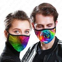 Maske Fabrikası 3D Kullanımlık Kravat Boyalı Yetişkinler Yüz Dijital Baskılı Tasarım Ağız Kapak Yaz Maskeleri Yıkanabilir Pamuk 2 Katmanlar D