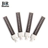 紫外線LEDネイルランプの置き換えたLEDのためのBluerise 4個+ 405nm 9Wランプチューブ201216のためのLEDの二重光源電球LEDランプ