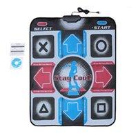 Sensores de movimento dançam pads antiderrapante pad dançando esteira de passo com USB para PC TV AV Video Household Jogo Dancer Cobertor1