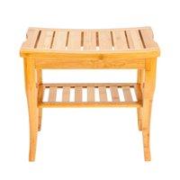 Nowy bambusowy prysznic ławka Łazienka spa wanna Organizator stołek z przechowywania półka domowego stołka