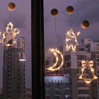 Led Lumière de Noël cordes Ins Fenêtre Ventouse Lustre Creative Décoration de Noël Lumière Chaîne Scène mise en page Lanterne w-00445