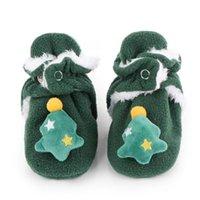 Primeiros caminhantes keaiyouhuo sapatos de bebê modelos de Natal outono e inverno para meninas meninos soled macio desenho animado algodão toddler