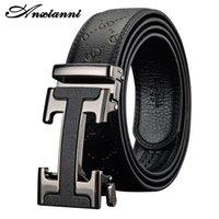 Ansianni Leather Designer Masculino de Alta Qualidade Homens Luxo Automático Fivela Unisex Fashion Belt 201214