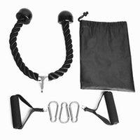 7pcs bras de bras corde corde de fitness biceps tirez la corde à la corde pression pour la salle de sport Home Sport Formation élastique bande de résistance de la triceps
