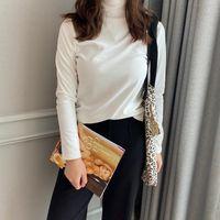 Женские Polos [8-цветное утолщение катионной базовой рубашки] зимний стиль бутик нижнее белье Pullover High воротник с длинным рукавом теплый COA