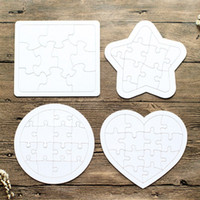 DIY Jigsaw Puzzle Sublimación en blanco Niños Graffiti Jigsaws Child Coloring Pintura Regalo Juguete Amor Heart Circular Papel 0 9XJ G2