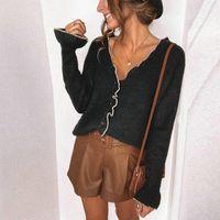 Кружева вязаные джемпер Муджеру оборманы Pull Femme Sweter Damski свитера для женщин дамы пуловеры черные белые вершины элегантные