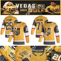 Vegas Golden Knights 2020-2021 الذهب الثالث جيرسي 29 مارك-أندريه فلوري 61 مارك ستون 67 ماكس pacioretty 75 ريان حيد الهوكي الفانيلة