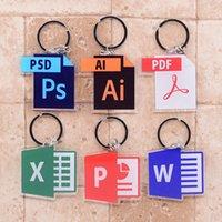 2021 البرمجيات أيقونة سلسلة المفاتيح الوجهين سلسلة الأكريليك قلادة أنيمي الملحقات الكرتون مفتاح الدائري