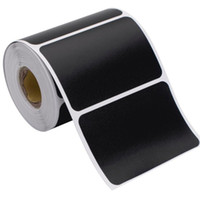 120 ملصقات / لفة ماء ملصقات التسمية الأسود تسمية مختومة جرة تخزين المنتج مطبخ ملصق تسميات السبورة ملصقات