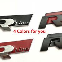 Oto Metal 3D RLLine Araba Sticker R Çizgi Çıkartmaları Golf GTI Beetle Polo Touareg Tiguan Passat MK5