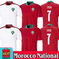 Nuevo 200 2021 Marruecos Soccer Jerseys Inicio 20 21 Maillot de Foot National Team Ziyech Boufal Fajr Munir Bennasser Amrabat Football Shirts