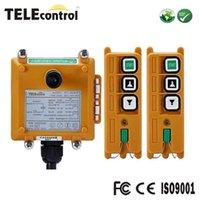 Lyftverktyg Tillbehör Telecrane F21-2D Dual Två steg upp Down Multiple Control System Motor Winch Conveyor Radio Remote med 2 Transmi