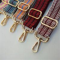 Farbige Gurtbeutel Geschenkzubehör für Frauen Regenbogen Verstellbare Schulteraufhänger Handtasche Riemen Dekorative Griff Ornament 120mmx3.8mm