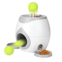 Alimentador automático de mascotas Interactive Fetch Tennis Ball Launcher Toy Toy Toy Throwing Ball Machine Pet Food Emission Dispositivo LJ201125