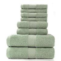 Полотенце Alanna Комбинированный набор 8 шт. 2 Банные полотенца 75 * 35 см и 4 квадратных