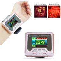 650nm العلاج بالليزر ووتش المعصم ديود ارتفاع ضغط الدم ارتفاع السكر الدهون في الدم لعلاج مرض السكري الأنف التهاب الأنف علاج LLLT