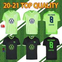 20 21 VFL Wolfsburg 팬 버전 Weghorst 2020 2021 Steffen Brekalo 축구 셔츠 Arnold Xaver Men + Kids Kit Jersey