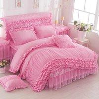 3 шт. Кружева одеяло одеяло мода дизайн мягкий комфортабельный корейский версия плюс размер одеяла крышка король / королевы размер роскошных постельных принадлежностей LJ201015