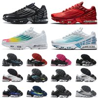 Мода TN PLUS 3 Настройка Горячие Продажи Мужская Женская Обувь Обувь Лазер Синий Тигр Обсидиан Классические Спортивные кроссовки TN 3S III Мужчины Тренеры