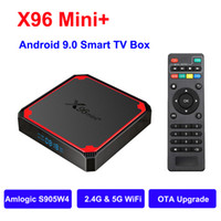 2021 Android 9.0 Smart TV Box AMLOGIC S905W4 X96 MINI PLUS Android9.0 TV BOBBOX 2.4G 5G Double bande WIFI 2GB 16 Go Set Top Box 1G8G OTA Boîtes
