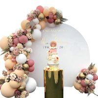 103 PCS Latex Macaron Globo Combinación de globos Juego de globos de oro Garland Kit de arco para cumpleaños / fiesta / decoración de boda