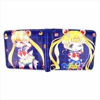 Sıcak Satış PU Deri Anime Cüzdan Sailor Moon Himouto Umaru Chan Cardcaptor Sakura Kısa Cüzdan Sikke Cebi ile
