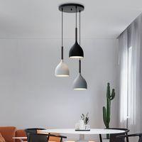 Современные 3 подвеска освещения Nordic Minimalist Bar подвесные светильники кухонные острова висит лампы столовая гостиная огни E27