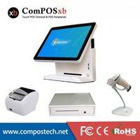 """Composxb 지점 판매 시스템 15 """"프린터 / 스캐너가있는 터치 스크린 컴퓨터 / 현금 서랍 판매 기계 1"""