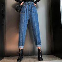 Dunayskiy 2021 nueva moda primavera vintage mamá jeans mujer alta cintura larga pantalones vaquero hembra femenino streetwear