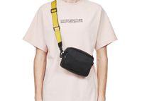 Brand New 2020 Бренд Mini Men off Off Желтый холст ремень Белый Сумка ПУ Гунжек Сумка Талия Сумки Многоцветный Дорожный Сумка Сумка
