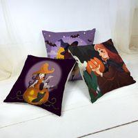 Urlaub Cartoon Dekoration Wurfkissenbezug Halloween Horror Stil Charakter Muster Zimmer Sofa Auto Kissenbezug Funda Cojin