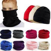 3IN1 Invierno Unisex Mujeres Hombres Deportes Térmico Fleece Scarf Snood Color Calentador Cara Mascarilla Beanie Sombreros