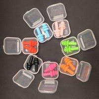 Tapones para orejas de silicona suaves Aislamiento de sonido Protección de oído Placas para los oídos Anti ruido Ronning Tapones para dormir para la reducción del ruido del viaje