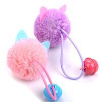 Pelúcia Animais de Estimação Kitty Brinquedos Mouse Cabeça Modelagem Pequena Interacção Interessante Gatos Toy Artigos Pet Supplies Engraçado Frete Grátis 1 5cw M2