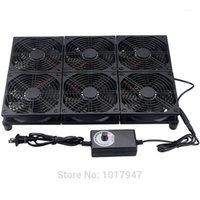 Fans Refriolos GDSTIE 120mm TV Caja de TV Enrutador Módem Ventilador de refrigeración Ajustable Velocidad Ajustable Notiople Radiador de la base para NETGEAR / ASUS GT / RT-AC530