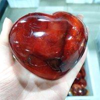 Cabochones naturales de alta calidad Cristales de ágata rojos Tallado Corazón Indie House Decoración Curación Preciosa piedras Regalos Mujer