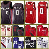 Damian Jason 55 Williams 0 Lillard Carmelo 00 Anthony PortlandTrilhaBlazer Sacramento.Kings.Novo jersey de basquete vermelho