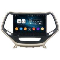 "DSP PX6 6-Core 10.1 ""Android 10 4GB + 64GB Coche DVD DVD DVD DVD GPS Unidad de cabeza para Jeep Cherokee 2016 2017 Bluetooth 5.0 WiFi Easy Connect"