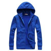 New Plain Mens Zip Up Hoody Jacket Sweatshirt Hooded Zipper male Top Outerwear Black Gray Boutique men Free shipping 201020