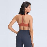2020 Sexy Y-Type Alongar Verison acolchoado Gym Workout Bras LU-127 mulheres nuas-feel tecido liso Esporte Yoga Bras aptidão tops de culturas